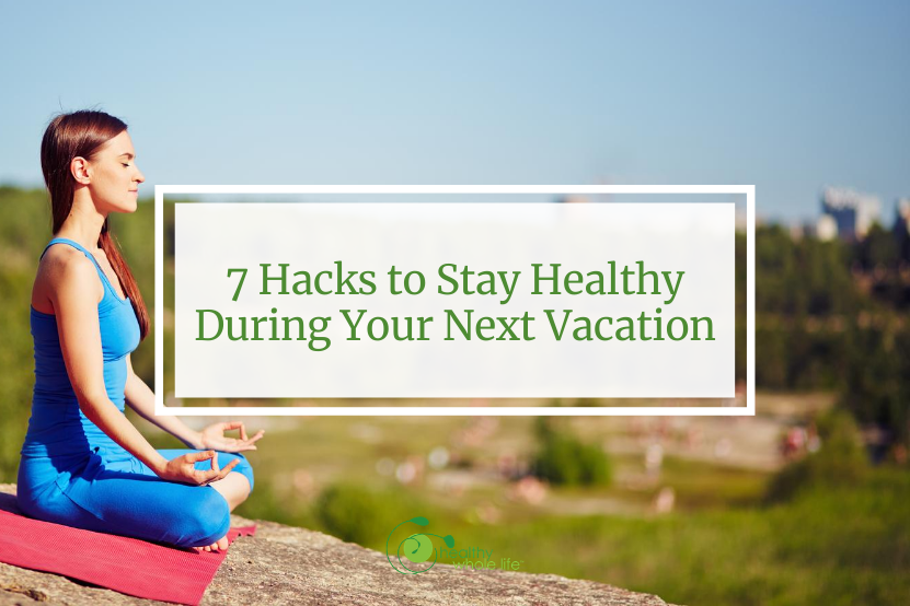 stay healthy vacation yoga outside
