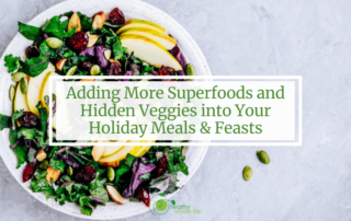 adding more superfoods and hiden veggies into your holiday meal kale salad