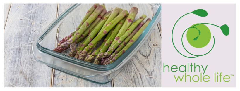 glass cookware asparagus