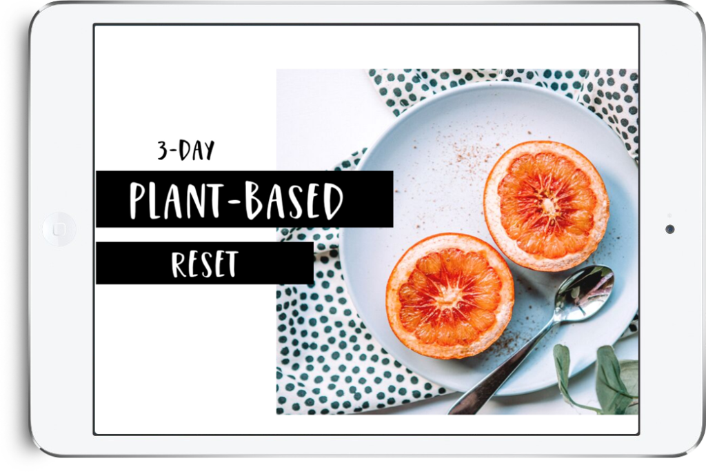3-day plant-based reset ebook cover