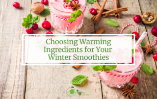 winter smoothie cranberry natural mint