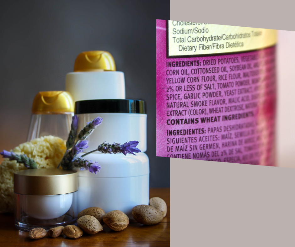 beauty products ingredient label toxins