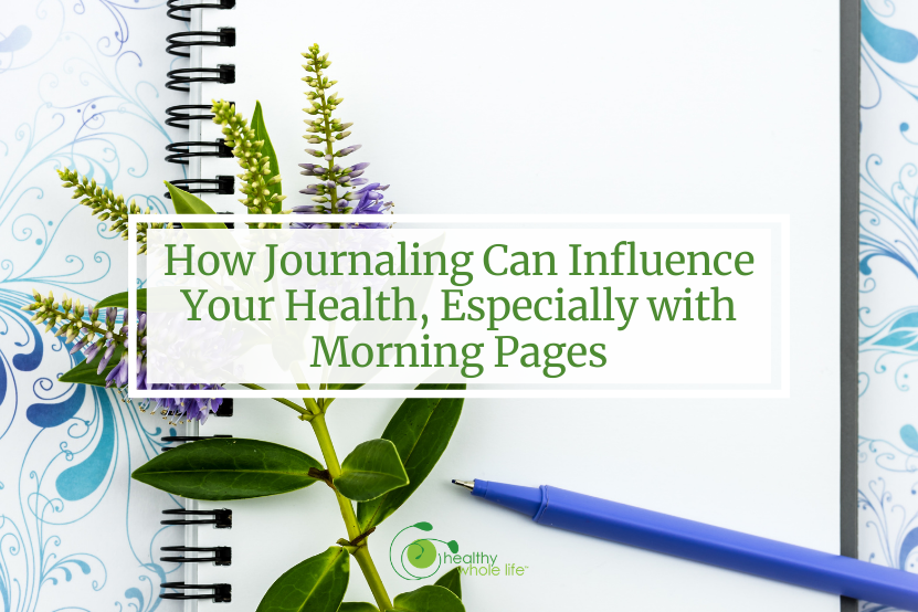 journal with flower pen