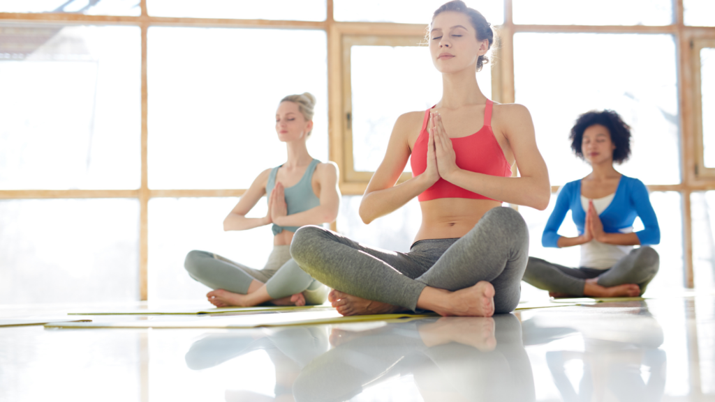 3 women yoga