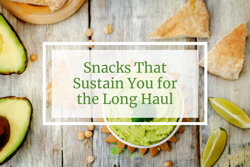 Snacks That Sustain You for the Long Haul hummus avocado