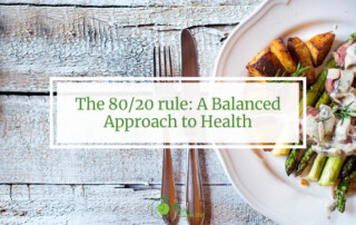 the 80 20 rule a balanced approach plate of food with utensils