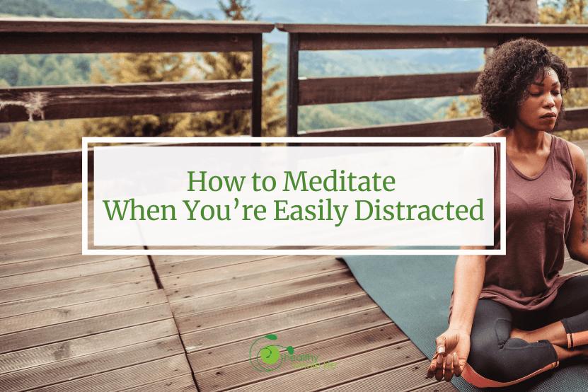 meditate calm outdoors women