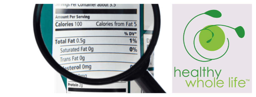 nutrition label magnifying glass