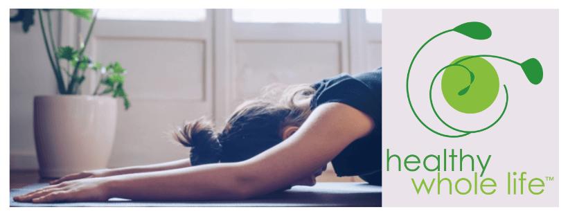 woman yoga pose to combat stress
