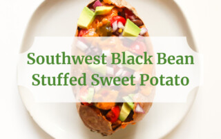 southwest black bean stuffed sweet potato