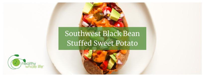 Southwest Black Bean Stuffed Sweet Potato cover